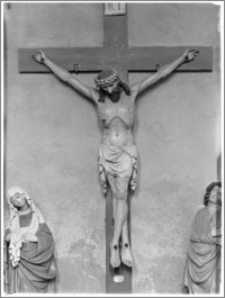 Chełmża. Kościół Parafialny Św. Trójcy [ob. Konkatedra Św. Trójcy]. Wnętrze-Grupa Ukrzyżowania w nawie północnej