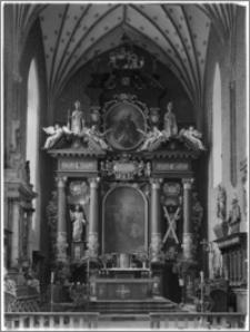 Chełmża. Kościół Parafialny Św. Trójcy [ob. Konkatedra Św. Trójcy]. Wnętrze-ołtarz główny