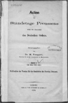Acten der Ständetage Preussens unter der Herrschaft des Deutschen Ordens. Bd. 1, (Die Jahre 1233-1435)