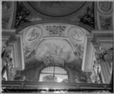 Kraków [Kościół pw. św. Andrzeja – wnętrze – empora nad nawą płd., sztukateria autorstwa Baltazara Fontany]