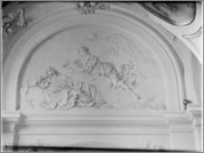 Kraków [Kościół pw. św. Anny – wnętrze – płyciny nad łukami nawy płd., sztukateria autorstwa Baltazara Fontany]