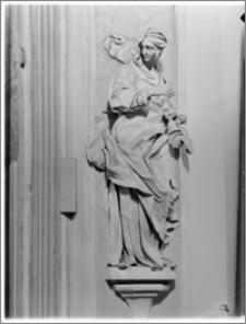 Kraków [Kościół pw. św. Anny – figura św. Anny, sztukateria autorstwa Baltazara Fontany]