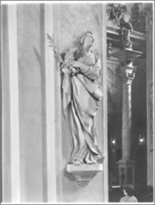 Kraków [Kościół pw. św. Anny – figura św. Agnieszki, sztukateria autorstwa Baltazara Fontany]