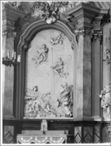 Kraków [Kościół pw. św. Anny – fragment ołtarza – skrzydło płn., sztukateria autorstwa Baltazara Fontany]
