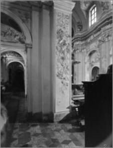 Kraków [Kościół pw. św. Anny – płycina na filarze nawy głównej, sztukateria autorstwa Baltazara Fontany]