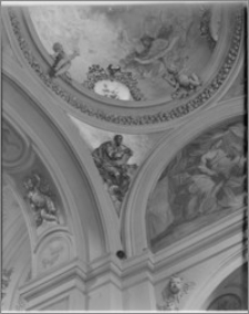 Kraków [Kościół pw. św. Anny – wnętrze – fragment sklepienia nawy płd.-wsch., sztukateria autorstwa Baltazara Fontany]