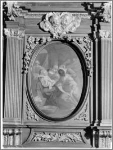 Kraków [Kościół pw. św. Anny – stalle – obraz Szymona Czechowicza, sztukateria autorstwa Baltazara Fontany]