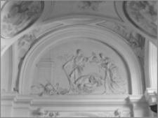 """Kraków [Kościół pw. św. Anny – nawa boczna, kaplica św. Jana Chrzciciela, """"Ścięcie św. Jana"""", sztukateria autorstwa Baltazara Fontany]"""