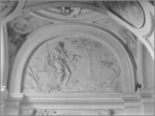 """Kraków [Kościół pw. św. Anny – nawa boczna, kaplica św. Jana Chrzcieciela, """"Św. Jan na puszczy"""", sztukateria autorstwa Baltazara Fontany]"""