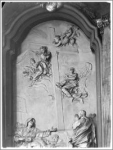 Kraków [Kościół pw. św. Anny – fragment ołtarza w płn. ramieniu transeptu, sztukateria autorstwa Baltazara Fontany]