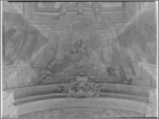 Kraków. Kościół pijarów Przemienienia Pańskiego. Wnętrze. Polichromia na sklepieniu nawy głównej aut. Franciszka Ecksteina-fragment