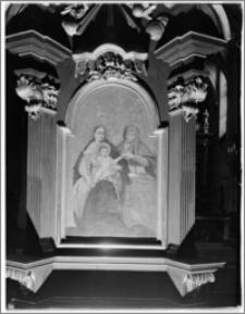 Kraków. Kościół św. Marka. Wnętrze. Obraz w ołtarzu bocznym