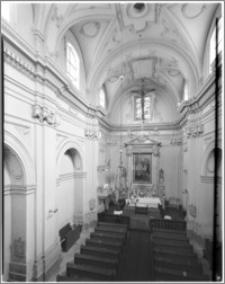 Kraków. Kościół ewangelicki św. Marcina. Wnętrze-widok na ołtarz główny z empory
