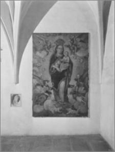 Kraków. Klasztor augustianów. Obraz Matki Boskiej z Dzieciątkiem w krużganku