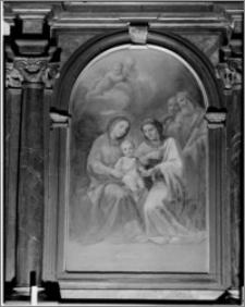 Kraków. Wnętrze kościoła. Obraz w ołtarzu bocznym