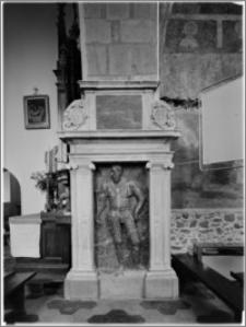 Czchów. Kościół pw. Narodzenia Najświętszej Maryi Panny. Nagrobek Kaspra Wielogłowskiego
