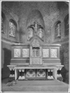 Chojnów. Kościół pw. Niepokalanego Poczęcia Najświętszej Marii Panny. Ołtarz główny