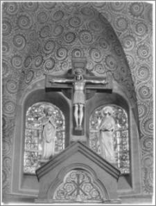 Chojnów. Kościół pw. Niepokalanego Poczęcia Najświętszej Marii Panny. Ołtarz główny - fragment
