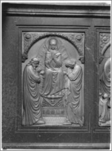 Chojnów. Kościół pw. Niepokalanego Poczęcia Najświętszej Marii Panny. Ołtarz boczny - fragment