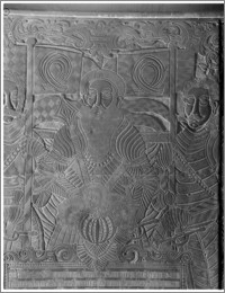 Czarnków. Kościół parafialny św. Marii Magdaleny. Kaplica Czarnkowskich-fragment płyty nagrobnej
