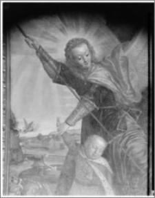 Czarnków. Kościół parafialny św. Marii Magdaleny. Kaplica Czarnkowskich-fragment ołtarza Anioł Stróż