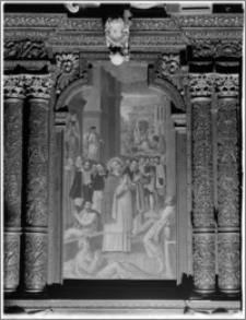 Kraków. Kościół pw. Bożego Ciała. Obraz w stallach