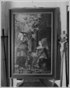 """Kraków. Kościół Wniebowzięcia NMP (Bazylika Mariacka). Skarbiec. Obraz """"Zwiastowanie"""" Jakoba Mertensa (ok. 1600)"""