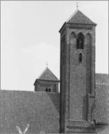 Chełmża. Kościół Parafialny Św. Trójcy [ob. Konkatedra Św. Trójcy]. Fragment wschodniej elewacji-wieże