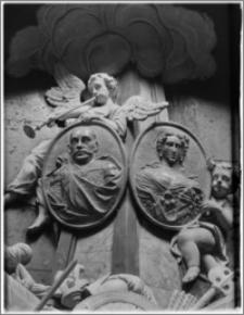 Kraków. Bazylika archikatedralna św. Stanisława i św. Wacława. Wnętrze. Fragment nagrobka Jana III Sobieskiego