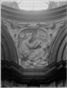 Kraków. Bazylika archikatedralna św. Stanisława i św. Wacława. Wnętrze. Fragment kopuły Kaplicy Wazów (Psałterzystów, Pradocińskiej)