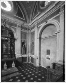 Kraków. Kościół dominikanów Św. Trójcy. Kaplica Lubomirskich. Wnętrze-narożnik południowo-zachodni