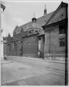 Kraków. Kościół dominikanów Św. Trójcy. Kaplica Myszkowskich-widok z zewnątrz