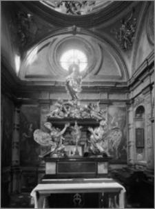 Kraków. Kościół dominikanów Św. Trójcy. Kaplica św. Jacka. Wnętrze-konfesja św. Jacka
