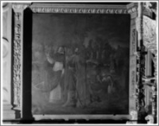 Kraków. Kościół dominikanów Św. Trójcy. Kaplica św. Jacka. Wnętrze-obraz z życia św. Jacka