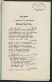 Festcantate zur 4. Säcularfeter des Geburtstages von Nicolaus Copernicus
