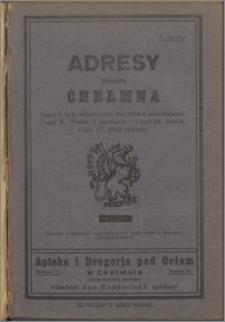 Adresy miasta Chełmna