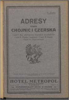 Adresy miasta Chojnic i Czerska