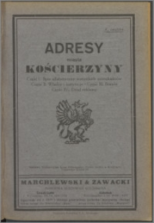 Adresy miasta Kościerzyny