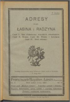 Adresy miast Łasina i Radzyna