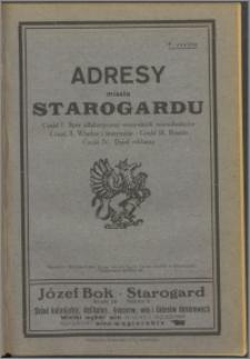 Adresy miasta Starogardu