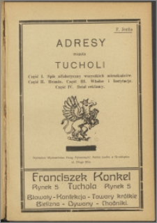 Adresy miasta Tucholi