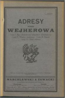 Adresy miasta Wejherowa