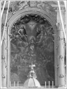 Krosno. Kościół pw. Trójcy Przenajświętszej. Obraz w ołtarzu głównym