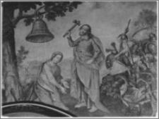 Krosno. Kościół pw. Trójcy Przenajświętszej. Obraz w nawie głównej - fragment