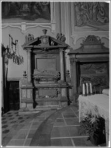 Krosno. Kościół Nawiedzenia Najświętszej Maryi Panny. Nagrobek Jadwigi z Włodków Firlejowej