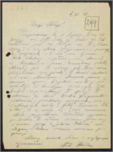 List Stanisława Kiałki z dnia 6 listopada 1961 roku