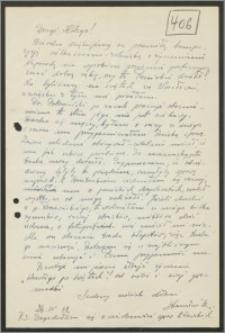 List Stanisława Kiałki z dnia 26 kwietnia 1962 roku