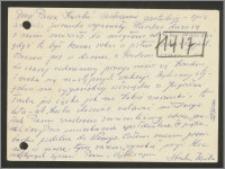 List Stanisława Kiałki z dnia 8 września 1969 roku