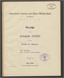 Bericht über das Schuljahr 1897/98