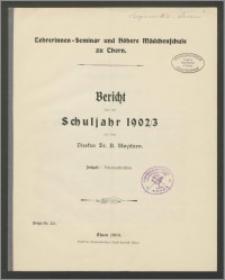 Bericht über das Schuljahr 1902/03